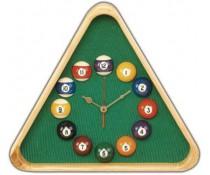 Horloge triangle en bois