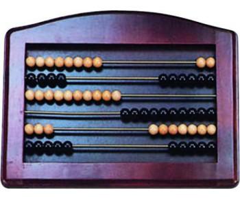 Boulier en bois teinte mahogany