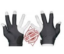 Gant doigts coupés avec cuir