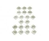Plaques plastiques numérotées pour Billard Russe.
