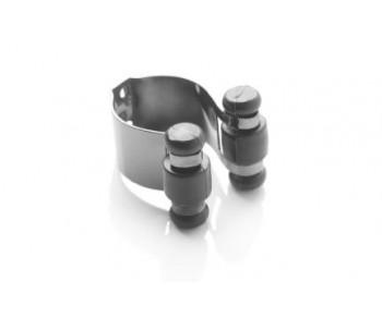 Clips aluminium noir de serrage pour porte queue
