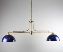 Luminaire pub 2 globes bleu