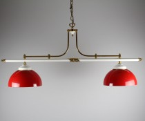 Luminaire pub 2 globes rouge
